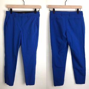 Babaton Cropped Blue Slacks Wool Spandex 0